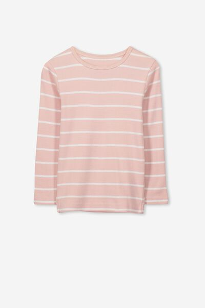 Jessie Crew Long Sleeve Tee, ROSE SMOKE/VANILLA