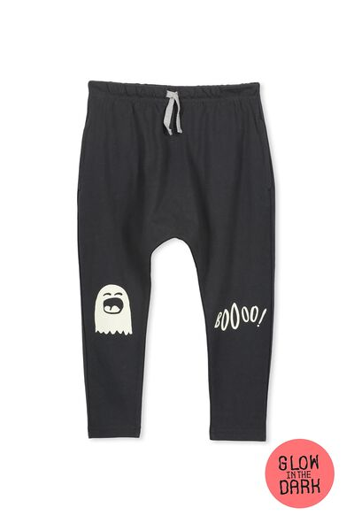 Felix Slouch Pant, PHANTOM/BOO PATCHES