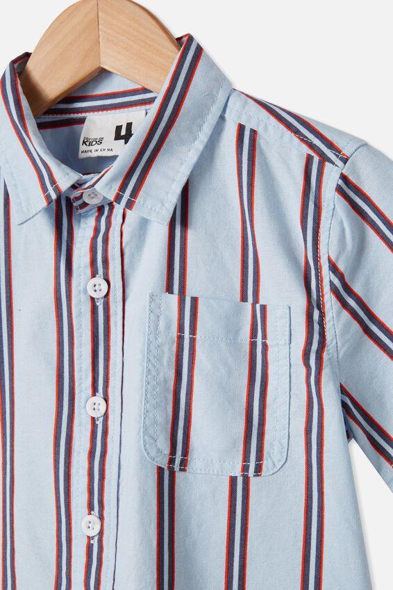 Resort Short Sleeve Shirt, VERTICAL STRIPE/FROSTY BLUE