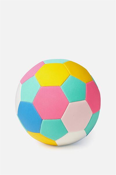 Kids Beach Soccer Ball, GREEN/PINK