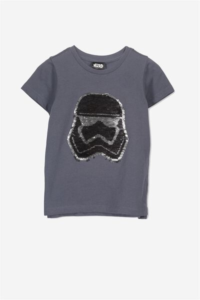 Short Sleeve License Tee, WASHED REGATTA/REVERSIBLE STORM TROOPER