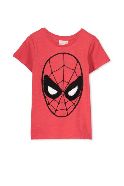 Spiderman Short Sleeve Tee, KETCHUP/SPIDERMAN FACE