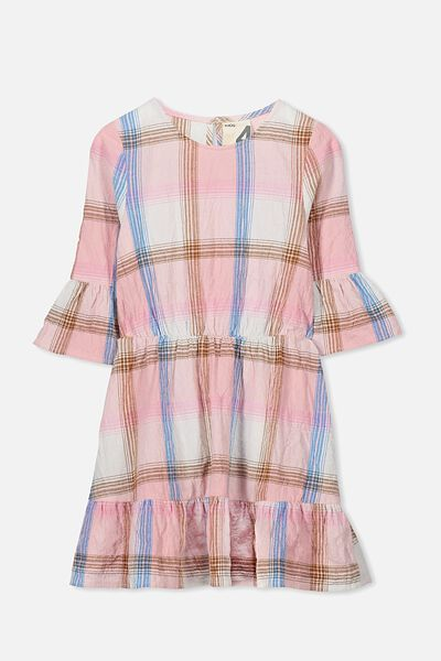 Charise Dress, MUSK STICK/CHECK
