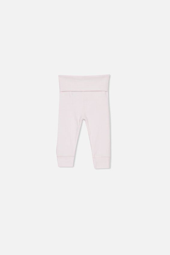 Newborn Essentials Legging, BABY PINK STRIPE