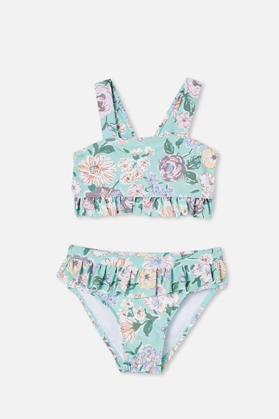 Polly Ruffle Tankini, DUCK EGG/PAINTERLY FLORAL