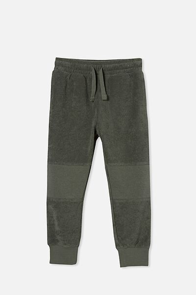 Marlo Trackpant, SWAG GREEN/TERRY TOWELLING