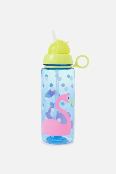 Spring Drink Bottle, FLAMINGO SPOTS