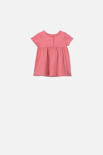Milly Short Sleeve Dress, RUSTY BLUSH