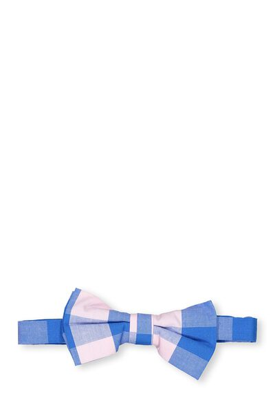 Billy Bow Tie, PINK/BLUE GINGHAM