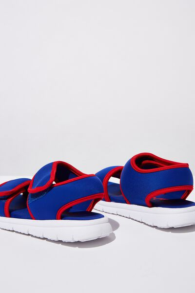 Louis Sports Sandal, BLUE/RED