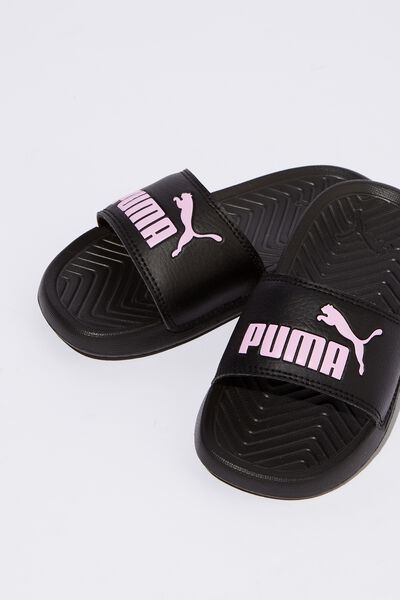 Puma Cat Slide Youth, BLACK ORCHID