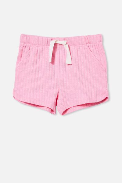 Gianna Knit Short, CALI PINK RIB