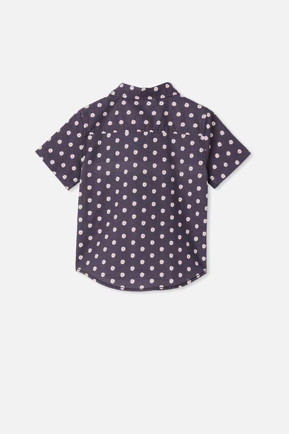 Resort Short Sleeve Shirt, DAISY/VINTAGE NAVY