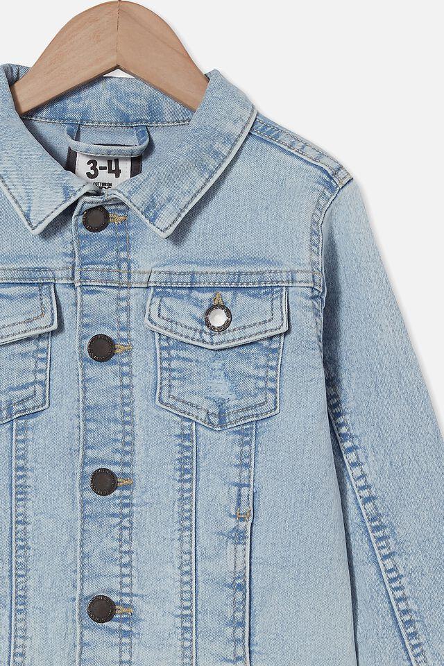 Relaxed Denim Jacket, BELLS LIGHT BLUE