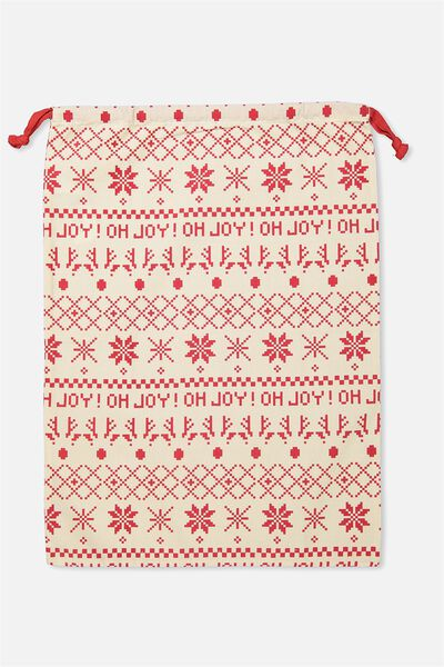 Kids Santa Sack, RED OH JOY