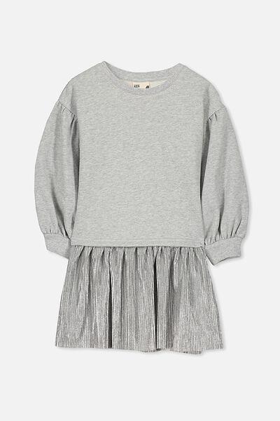 Aspen Dress, LT GREY MARLE/SILVER