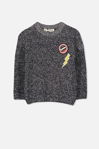 Blake Knit, NAVY/GREY MARLE TWIST