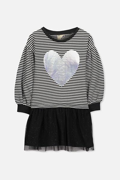 Aspen Dress, PHANTOM STRIPE/HEART