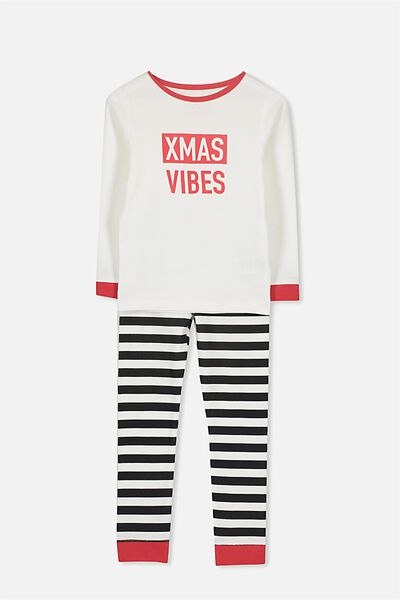 Charlie 1 Long Sleeve Pyjama Set, XMAS VIBES