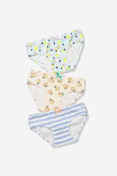 Girls Character Undies, PEACHY MIX