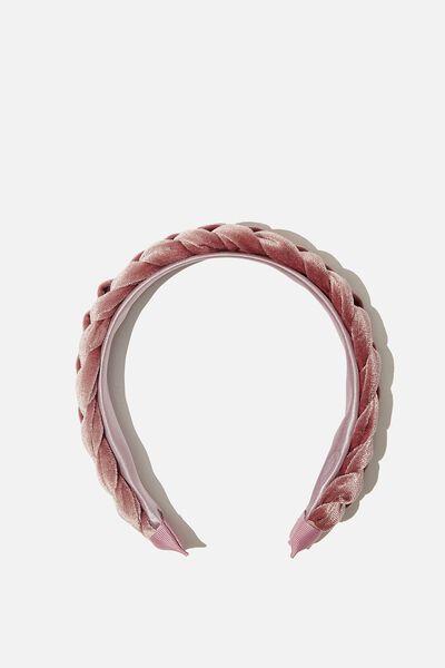 Fashion Headband, CLAY PIDGEON VELVET