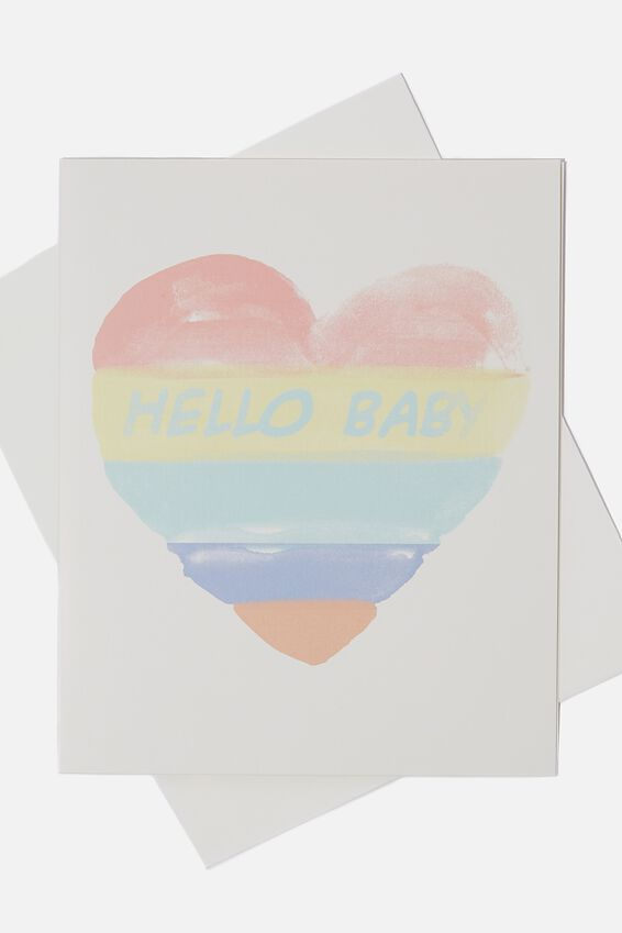 Baby Gift Card, HELLO BABY HEART
