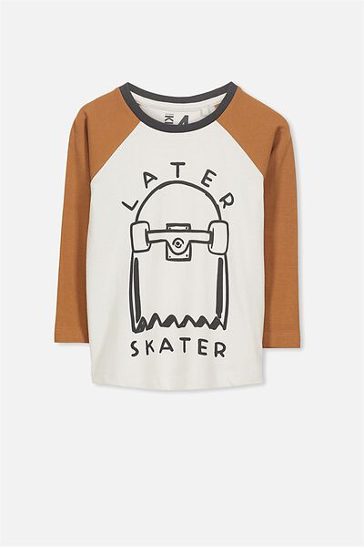 Tom Long Sleeve Tee, LATER SKATER/RAGLAN