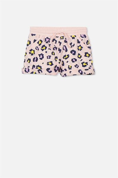 Nila Knit Short, SHELL PEACH/PAINTED LEOPARD