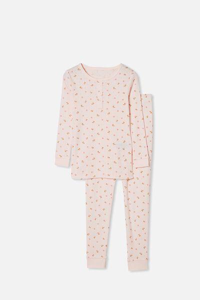 Cleo Long Sleeve Pyjama Set, CRYSTAL PINK FLORAL