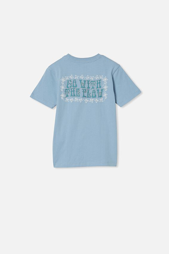 Max Skater Short Sleeve Tee, DUSTY BLUE/FLOW