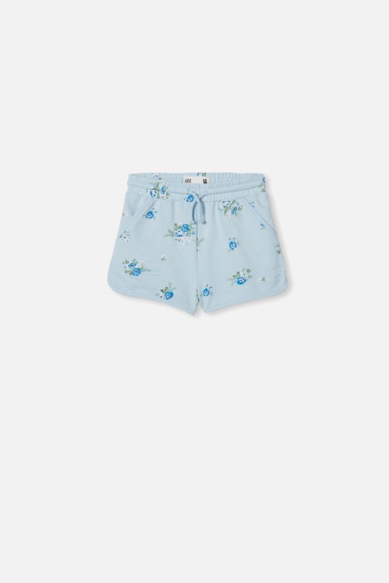 Nina Knit Short, FROSTY BLUE MARLE/ FLORAL