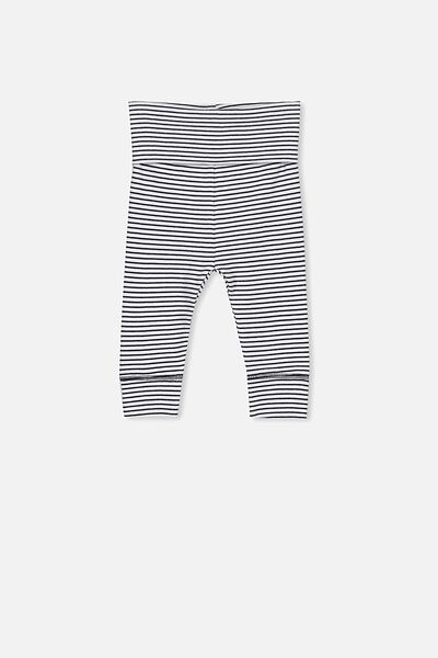Newborn Essentials Legging, INDIAN INK STRIPE
