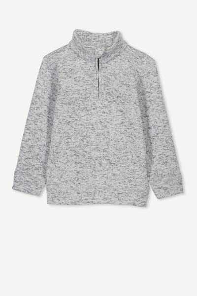 Spencer 1/2 Zip Crew, GREY MARLE
