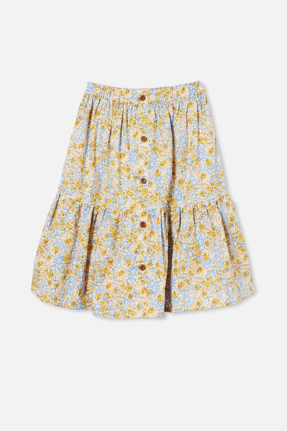 Adele Skirt, HONEY GOLD/VINTAGE FLORAL