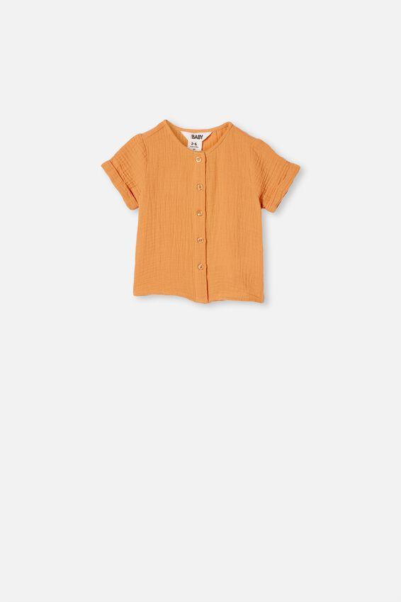 Mike Short Sleeve Shirt, APRICOT SUN