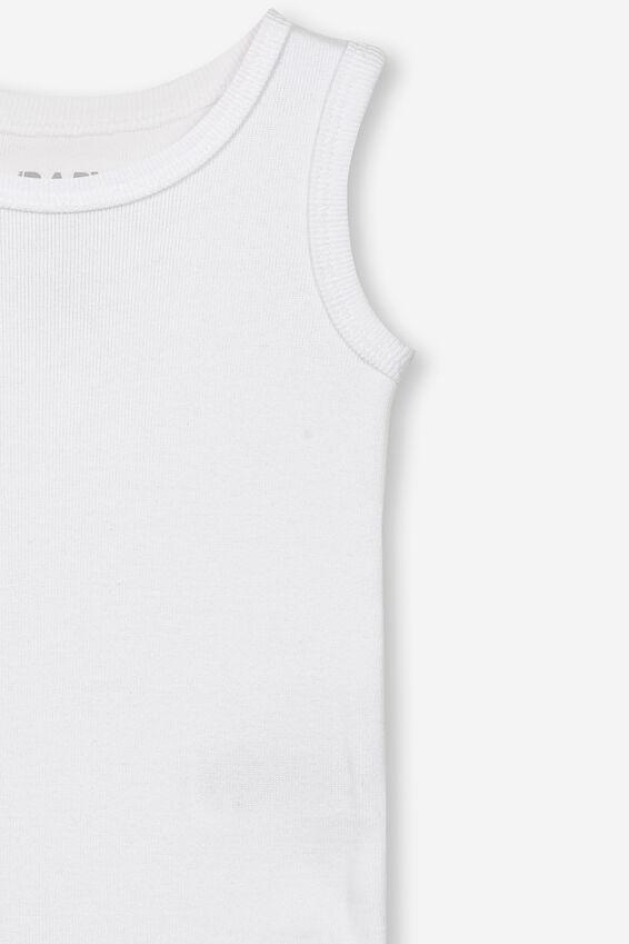 The Singlet Bubbysuit, WHITE