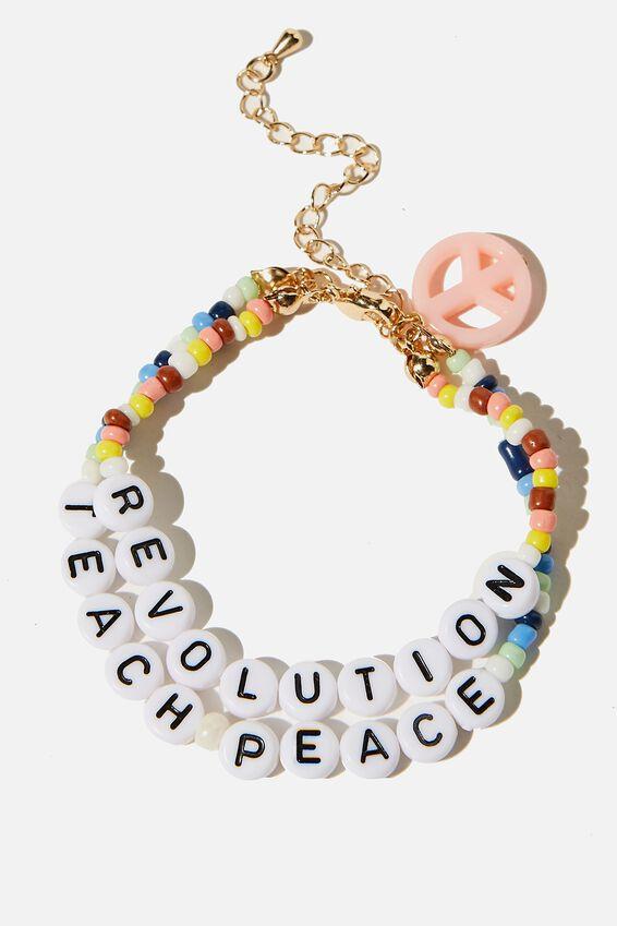 Kids Fashion Jewellery Bracelet, TEACH PEACE