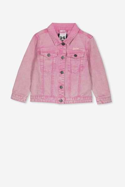 Lux Daisy Denim Jacket, LCN MAT PINK LADY/BARBIE