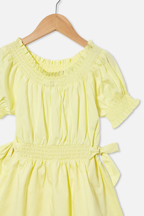 Samira Short Sleeve Dress, LEMONADE