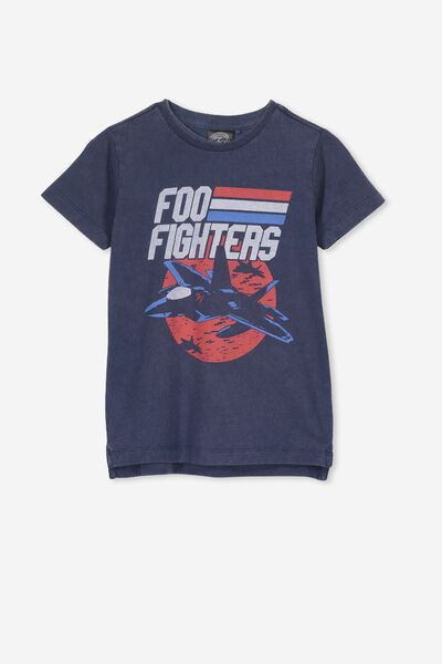 Short Sleeve License1 Tee, LCN LN/WASHED STEEL/FOO FIGHTERS