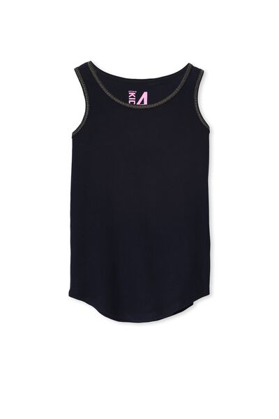 Brooke Singlet, TWILIGHT BLUE/GOLD