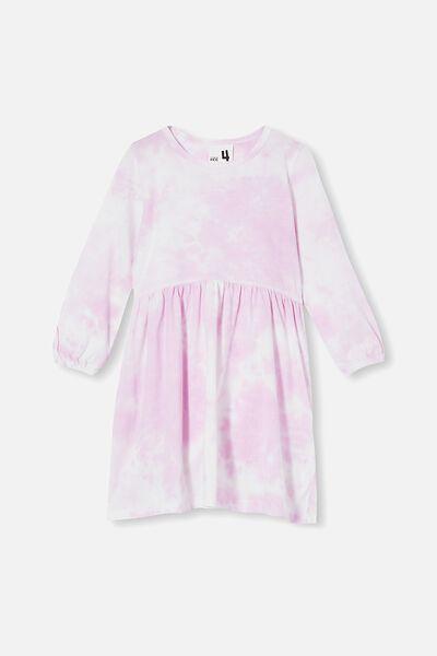 Savannah Long Sleeve Dress, PALE VIOLET/TIE DYE