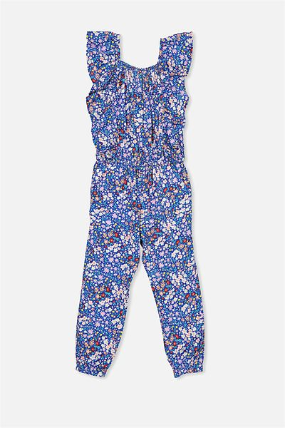 Kieri Long Jumpsuit, FRENCH BLUE/DITZY FLORAL