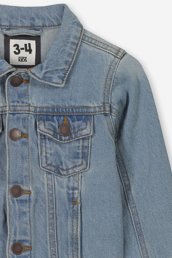 Quinn Denim Jacket Personalised, VINTAGE BLUE WASH