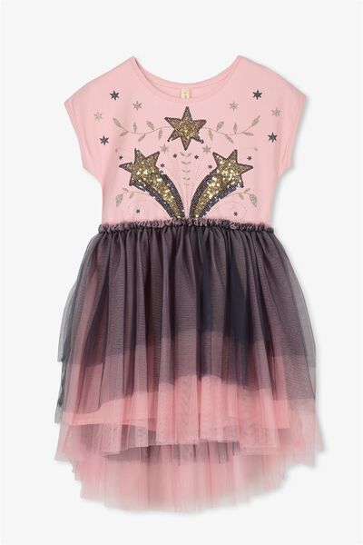 Iris Tulle Dress, DUSTY ROSE/INK/STAR FLORAL
