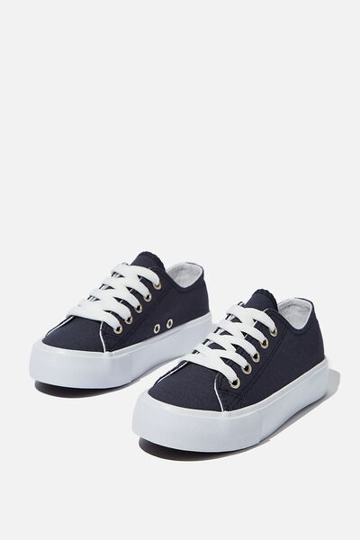 Classic Platform Lace Up, NAVY