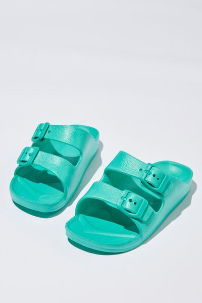 Twin Strap Slide, NEW GREEN