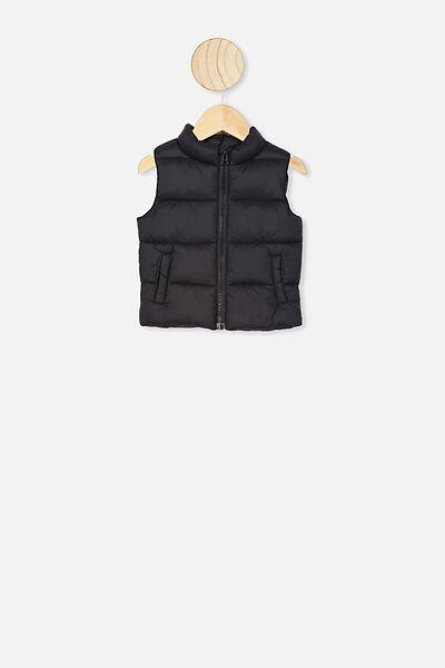 Morgan Puffer Vest, BLACK