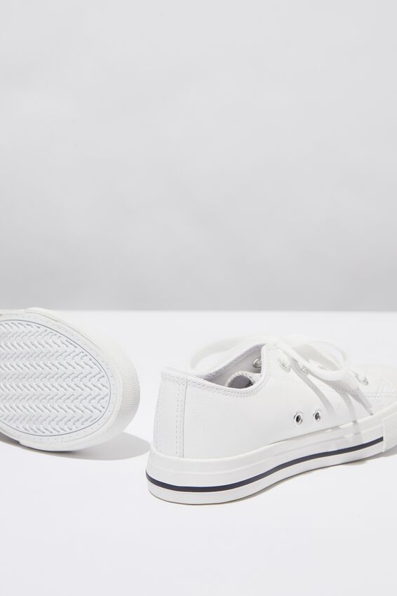 Kids Classic Trainers, WHITE SMOOTH