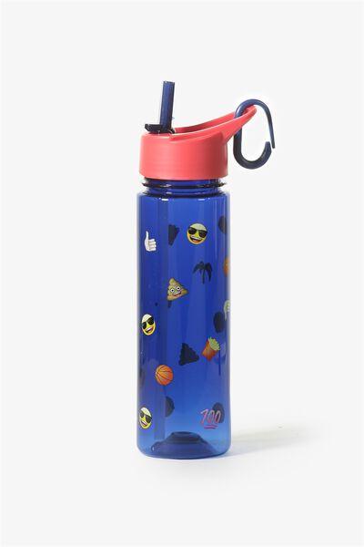 Summer Drink Bottle, BLUE MIXED EMOJI